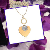 50% OFF Trendy Double Heart Pendant Necklace - Anti-allergy