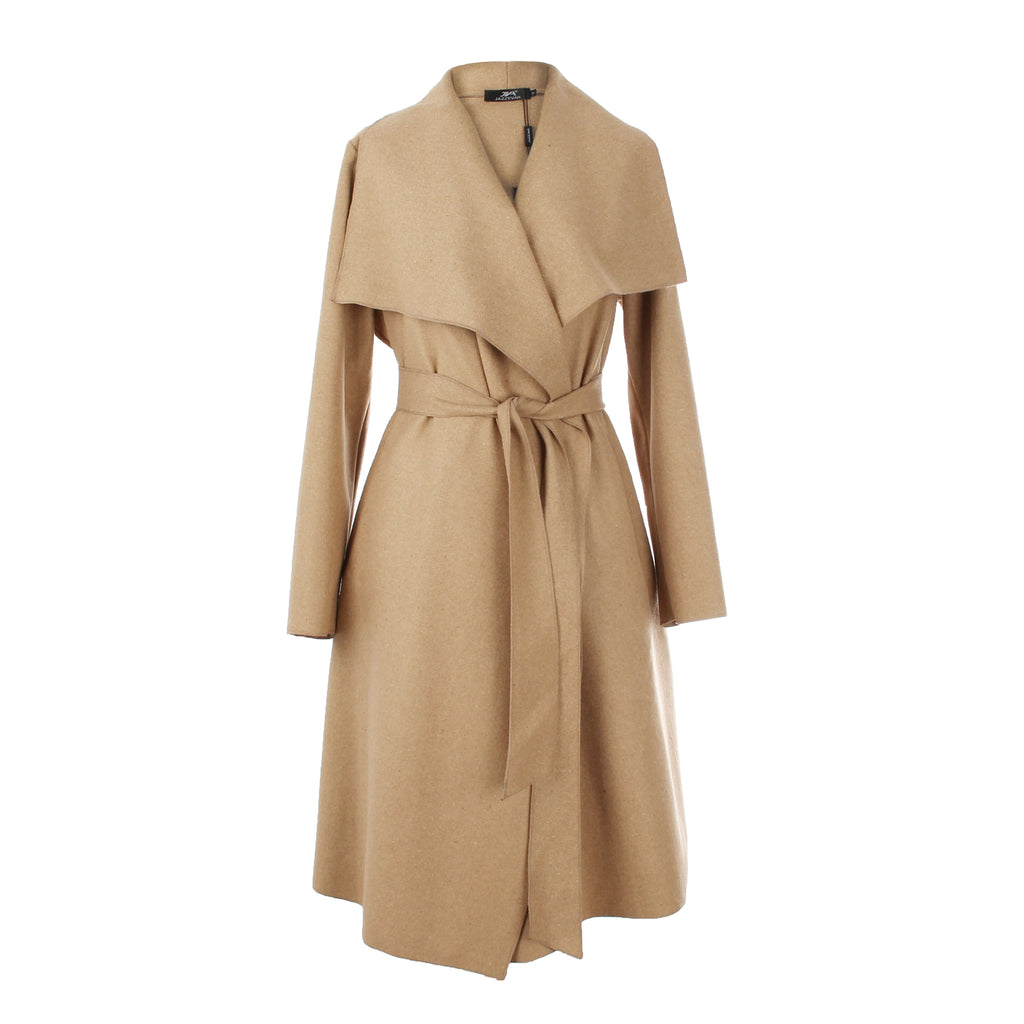 High Fashion Women's Wool Blend Trench Coat