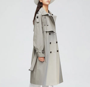 Autumn Top Trench Coat Double Breasted