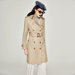 High Fashion Waterproof Cotton Long Classic Trench Coat Top Quality