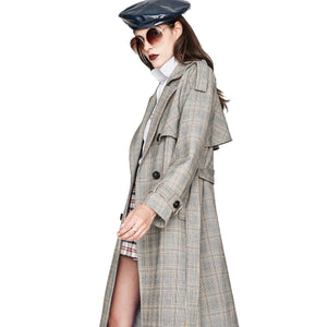 Fashion Double Breasted Trench Coat