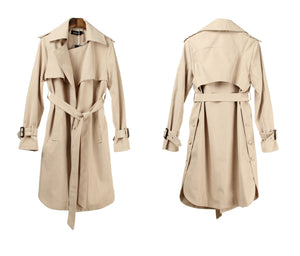 Fashion Casual Women's Trench Coat With Belt