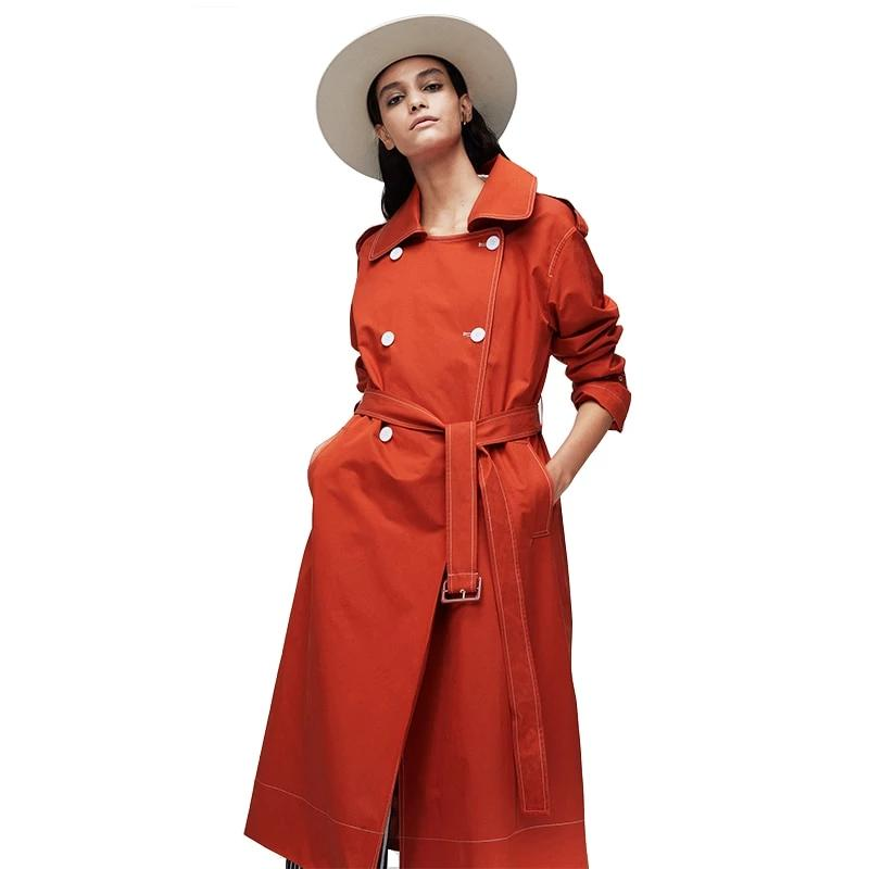 New Arrival Double Breasted Long Fashion Style Trench Coat