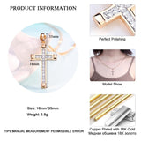 Trendy Gold Color Cross Pendant  CZ Zircon Necklace