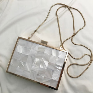 Fashion Mini Shell Transparent Bow Tie Acrylic Evening Bag
