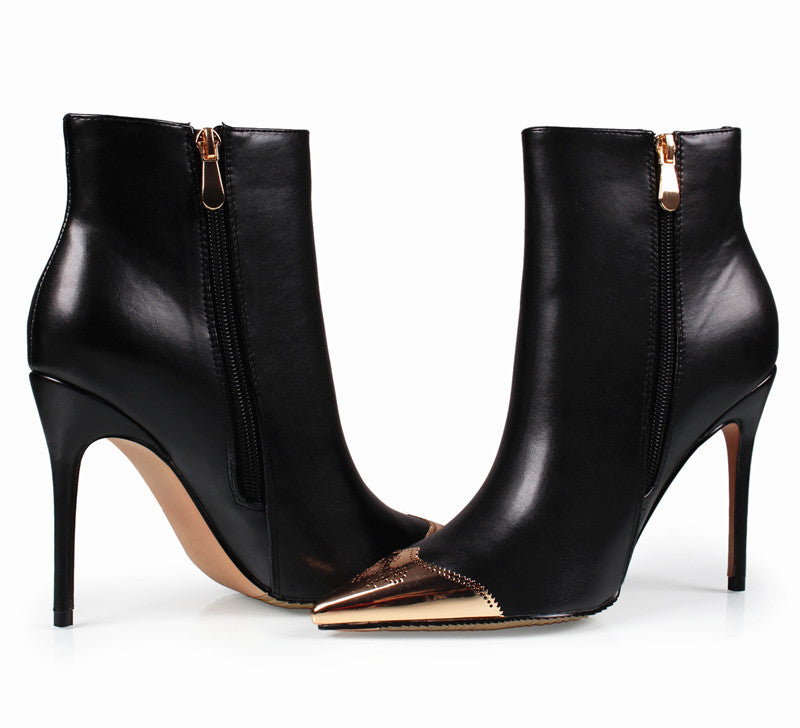 Ankle Boots High Heels Pointed Toe Winter Boots
