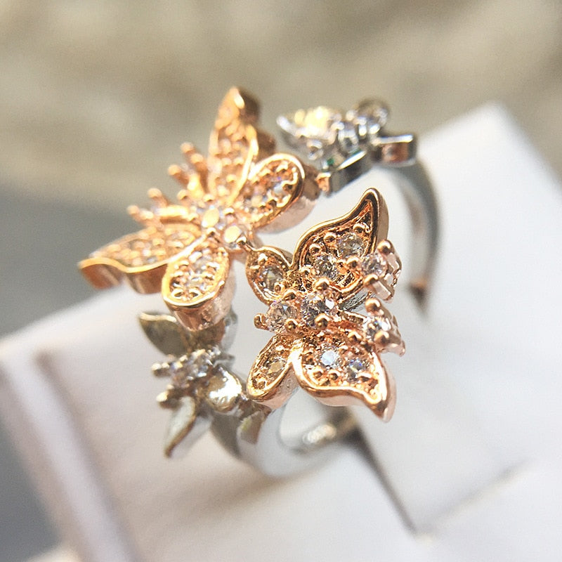 Romantic Butterfly 925 Sterling Silver Ring