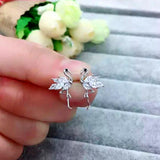 Cute Pink/White Cubic Zirconia Flamingo Stud Earrings