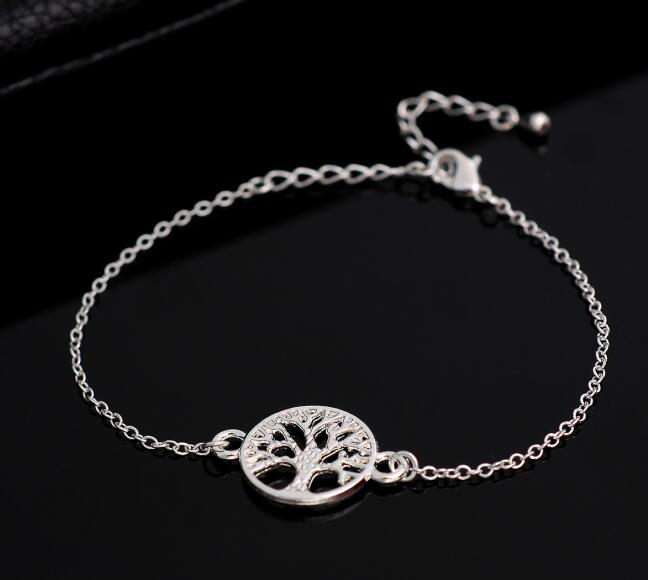 Fashion Link Chain Tree of Life Charm Bracelet