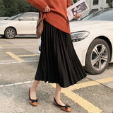 50% OFF Elegant Midi Pleated High Waist A-Line Skirt