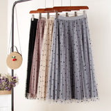 Reversible Velvet Midi Pleated Fiona Skirt