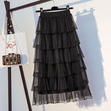 High Waist Elegant Long Tulle Skirt