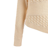 Off Shoulder Knitwear  Long Sleeve Asymmetric Pullover
