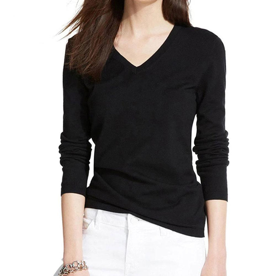 Cotton T-shirt Long Sleeve Casual Tee Plus Size