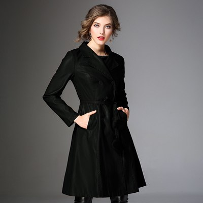 New Fashion Autumn Winter PU Leather Coat