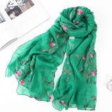 New Embroidery Silk Scarf