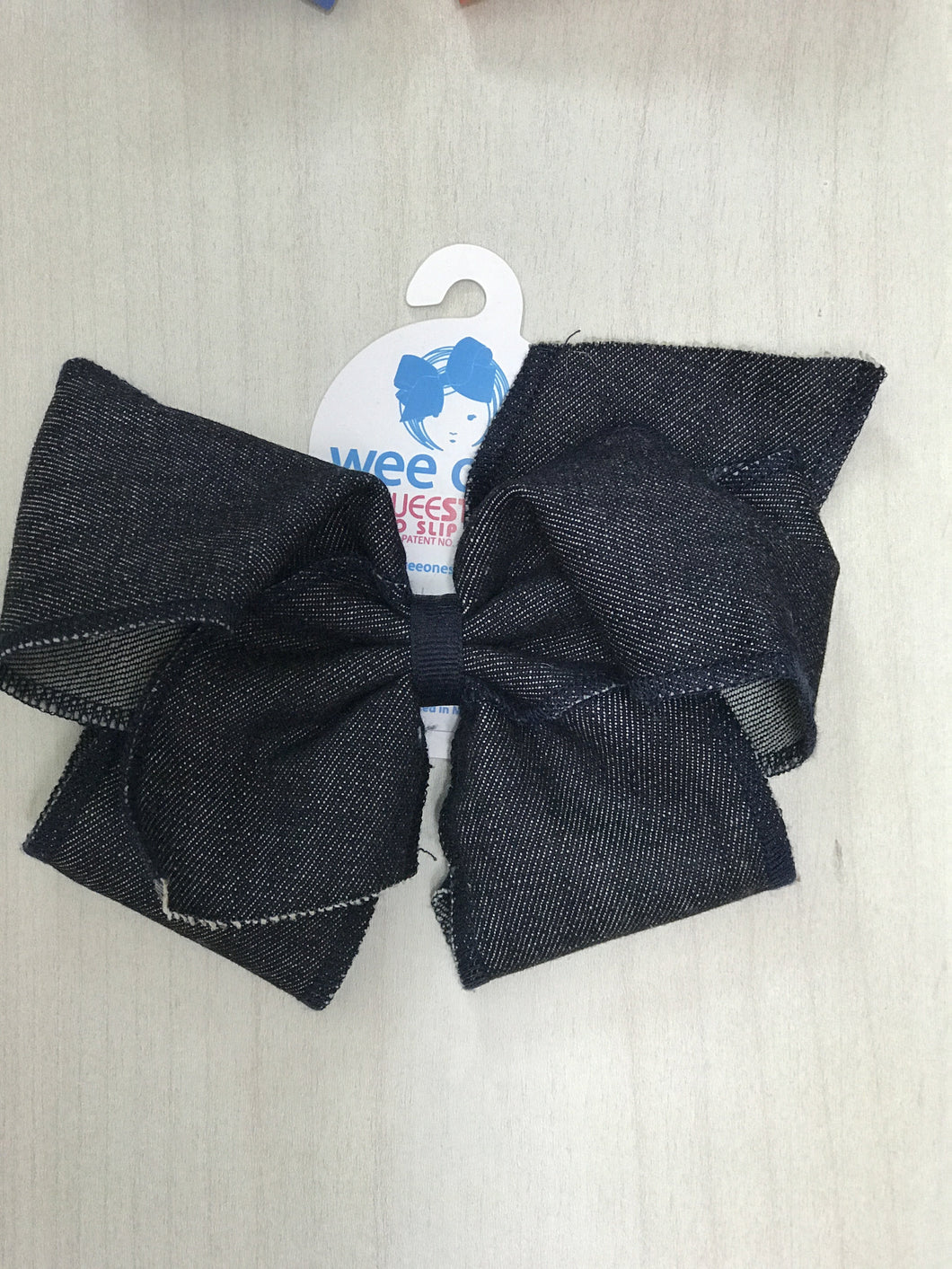King Size Denim Wee Ones Bow - Adalynn's Attic