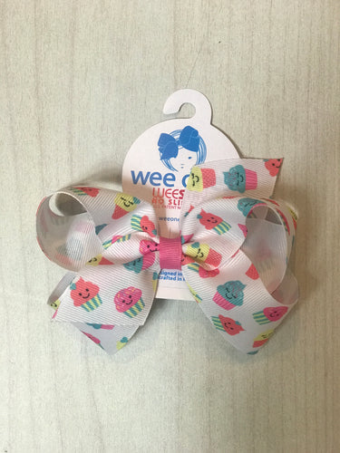 Wee Ones Cupcake Pattern Bow