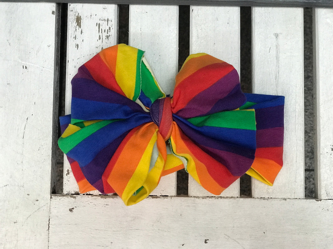 Rainbow Messy Bows - Adalynn's Attic