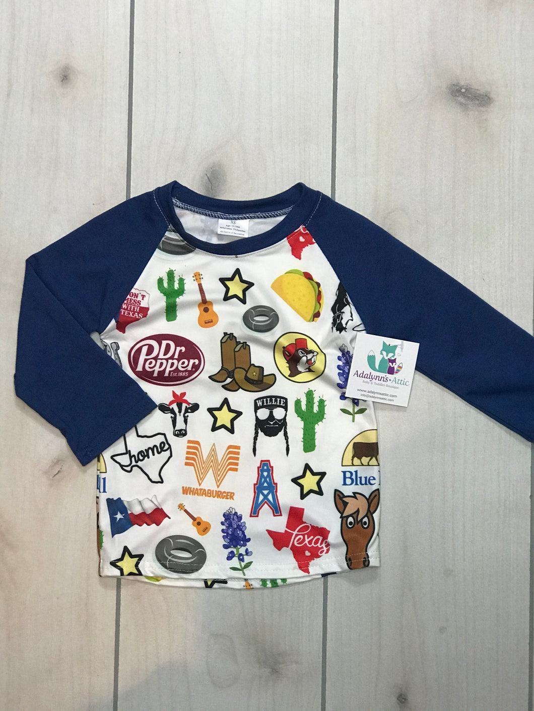 Texas Boys long sleeve Raglan