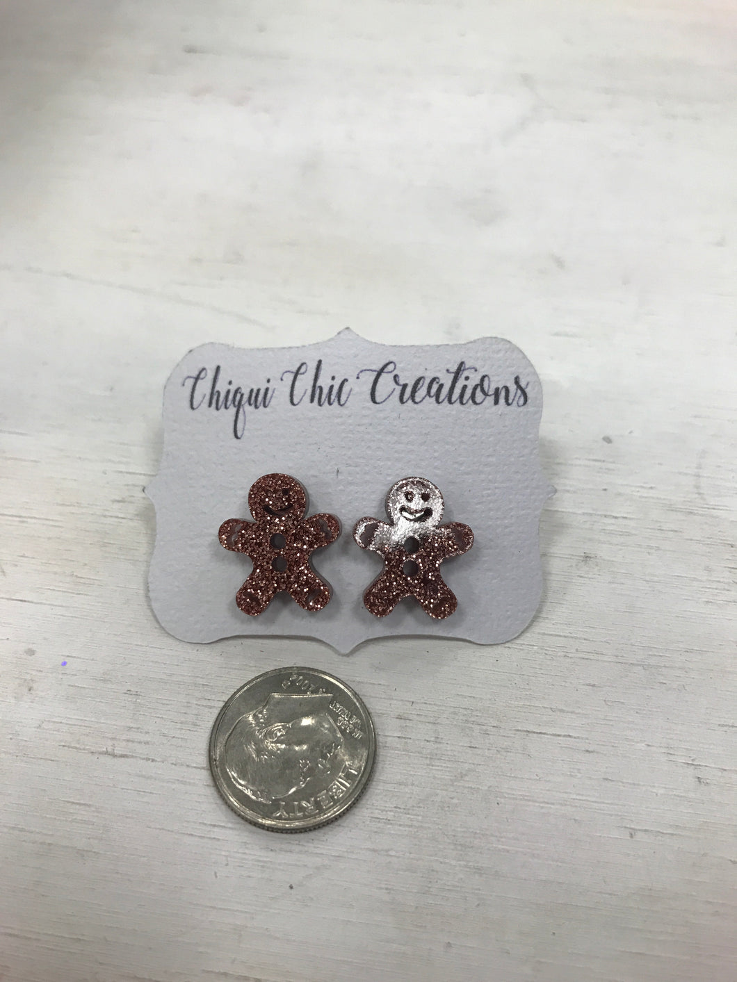 Gingerbread Laser Cut Earrings - Adalynn's Attic