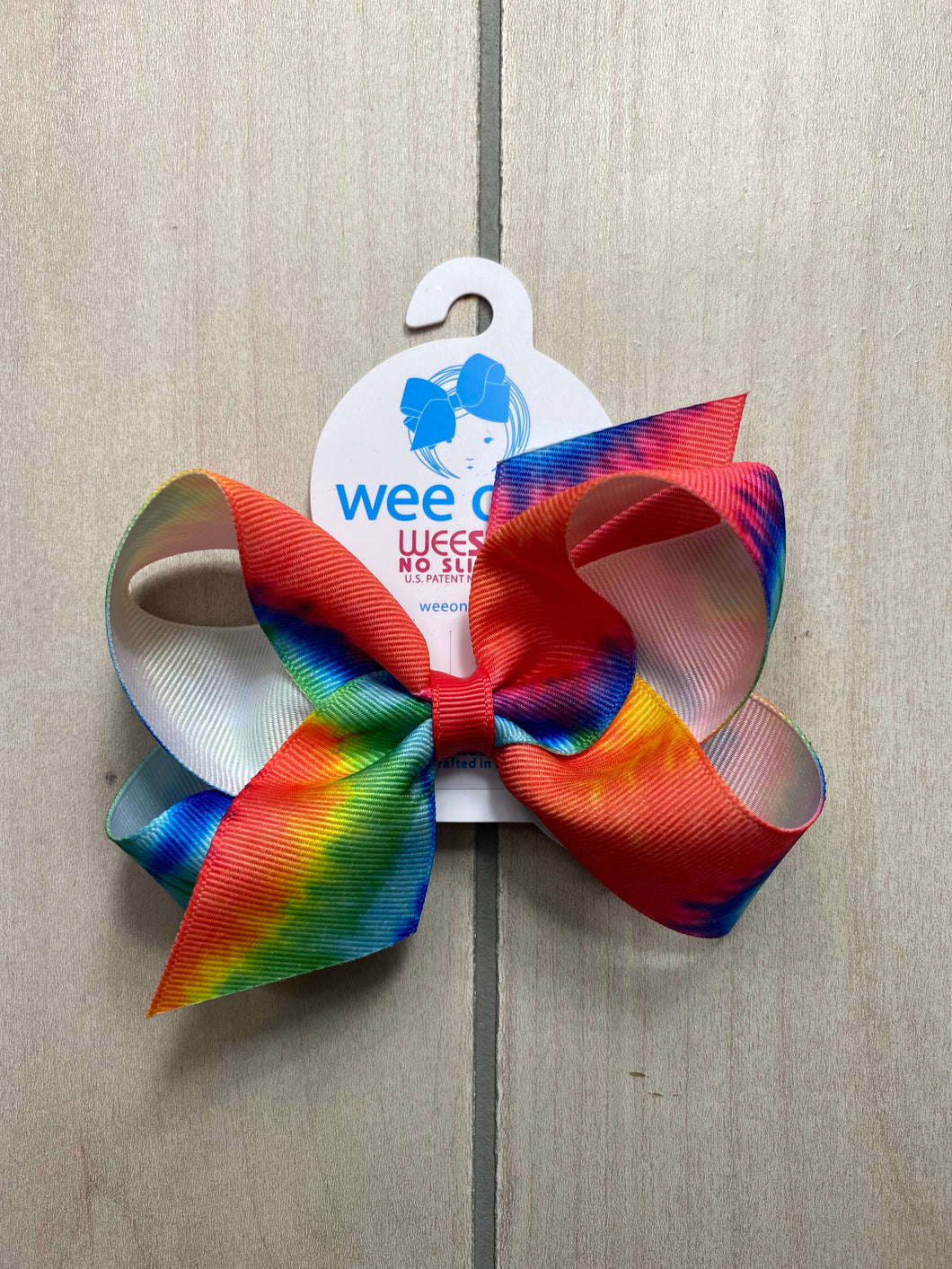 Wee Ones Tie Dye Grosgrain Bow