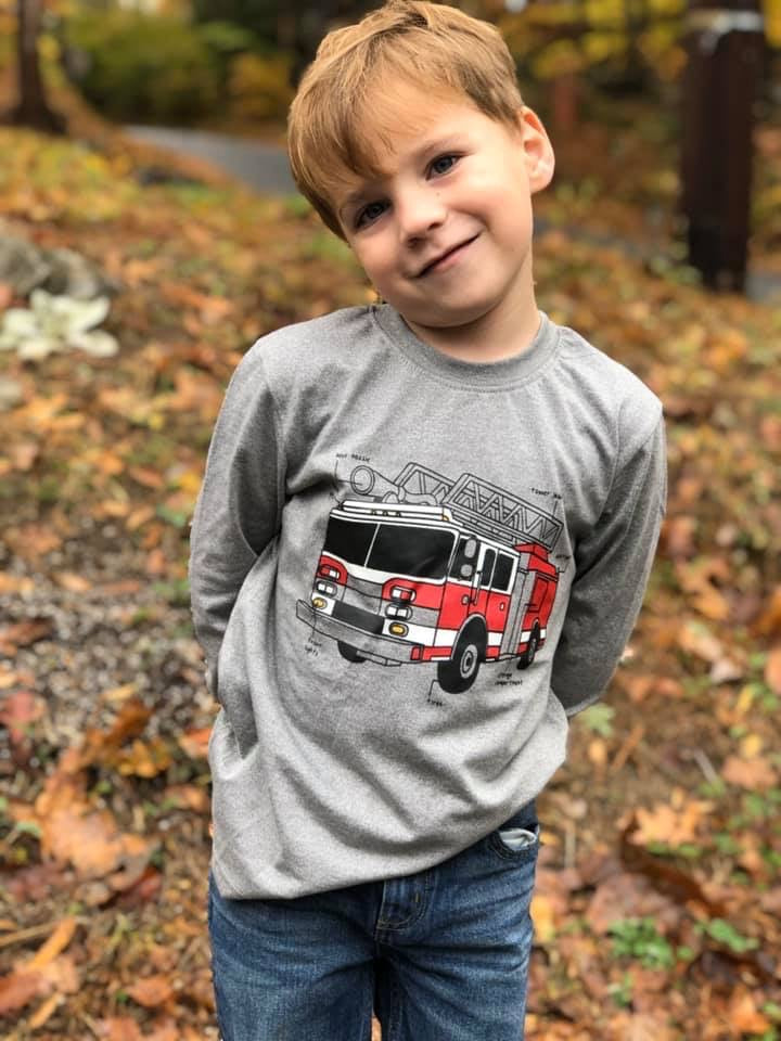 Boys Glow in the Dark Firetruck