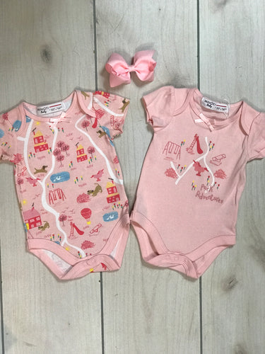 Minoti Unicorn Playground 2 Pack Bodysuits