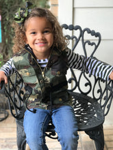 Girls Camo Vest and Shirt Set