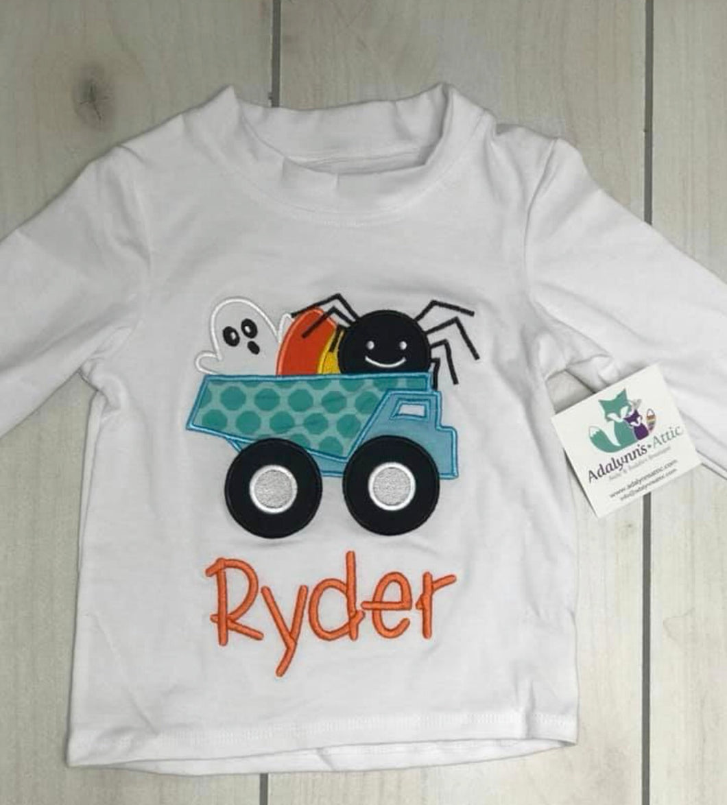 Boys Embroidered Halloween Shirt