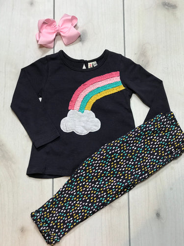 Girls Rainbow and Raindrop Tunic Set