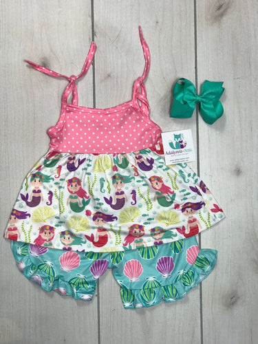 Girls Mermaid Tank set