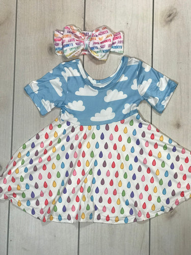 Rainbow Raindrop Dress