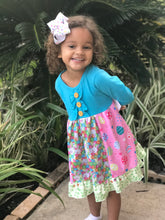 Girls Multi-Print Easter Dress