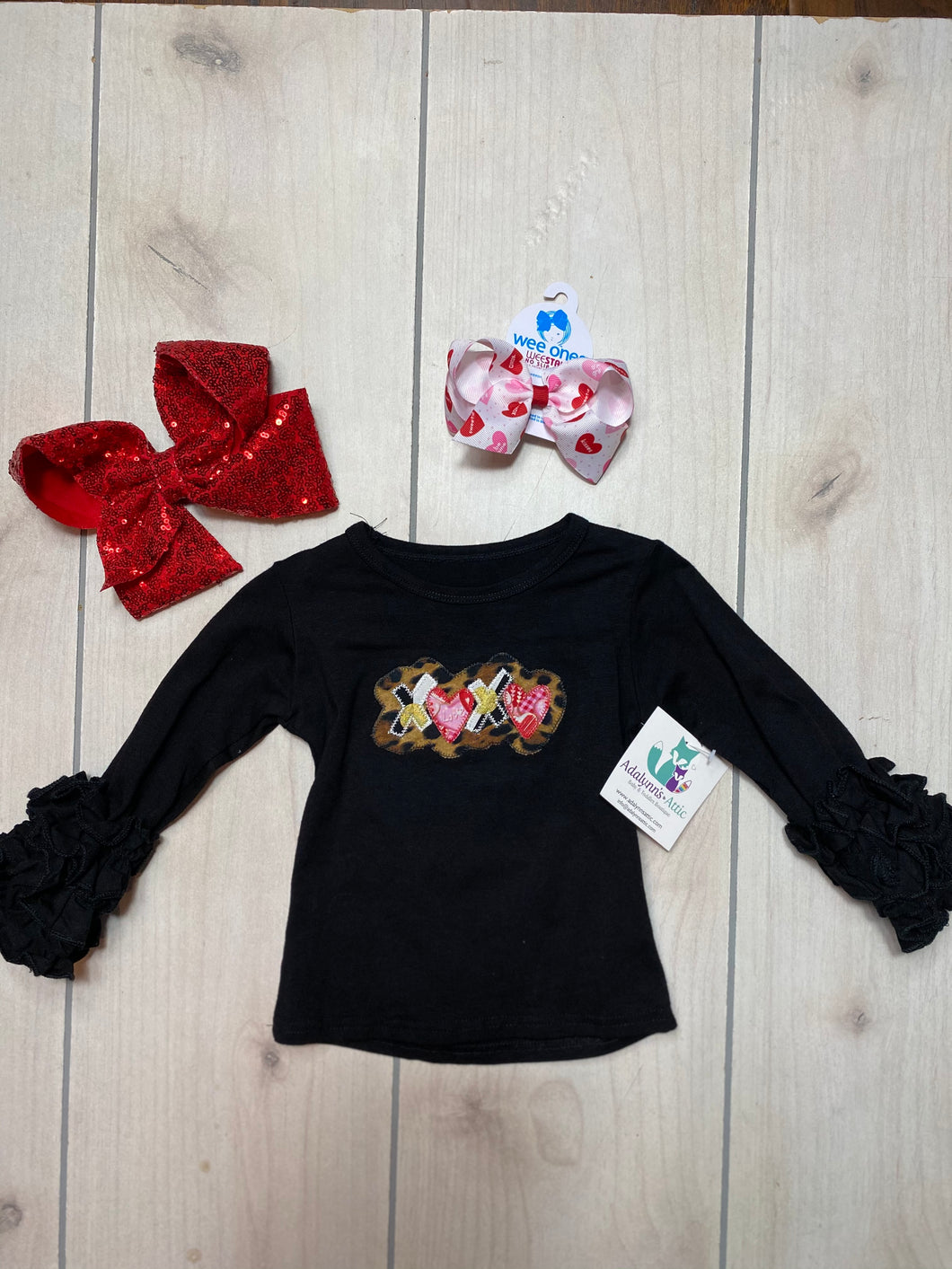 Girls Embroidered X❤️X❤️ Valentine Icing Top