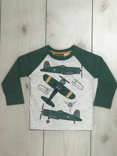 CR Sports Military Airplane Raglan