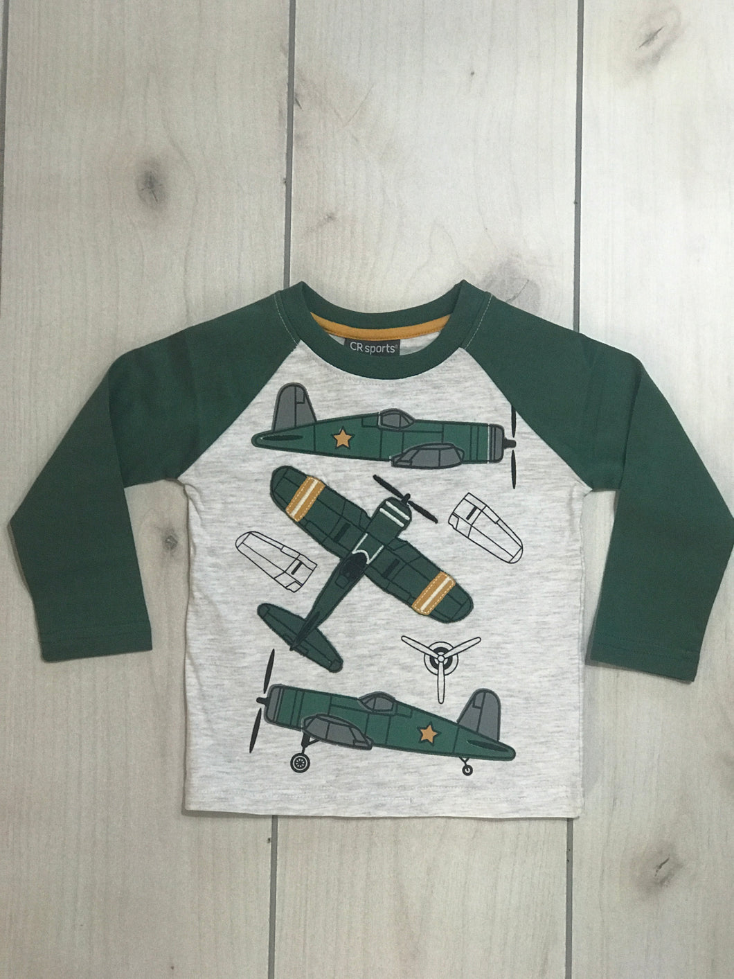 CR Sports Military Airplane Raglan - Adalynn's Attic