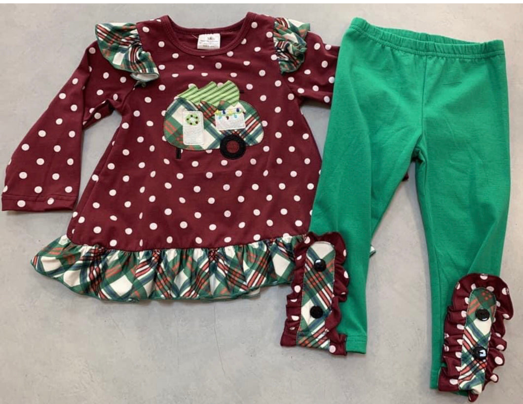 Christmas Polka Dot Camper Set