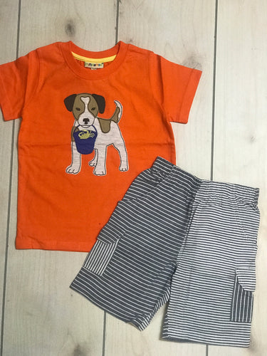 MiniBama Boys Dog Set