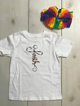 Embroidered Rainbow Cross Faith Onesie or shirt
