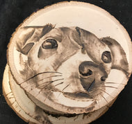 Pyrography Portraits on Coasters