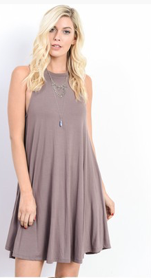Crew Neck Swing Dress - Stylishly Stated