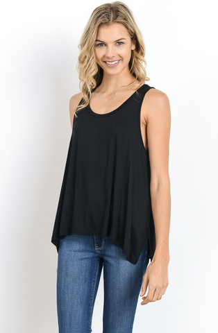 Black Relaxed Fit Tank - Stylishly Stated