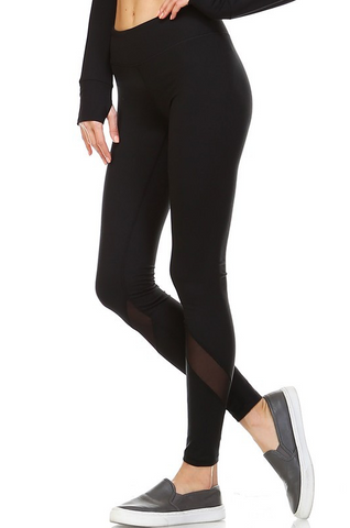 Black Mesh Leggings - Stylishly Stated