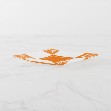 KEEP THE HOMIES CLOSE GLASS TRAY (ORANGE/WHITE)