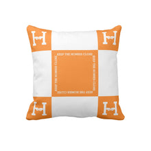 KEEP THE HOMIES CLOSE PILLOW (ORANGE/WHITE)