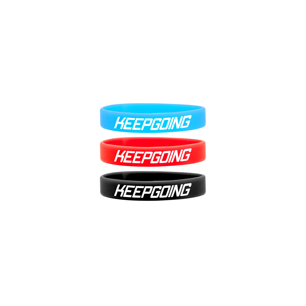 KEEPGOING WRISTBANDS (3 PACK)
