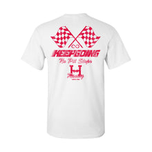 KEEPGOING 500 Vintage Racing T-Shirt (White)