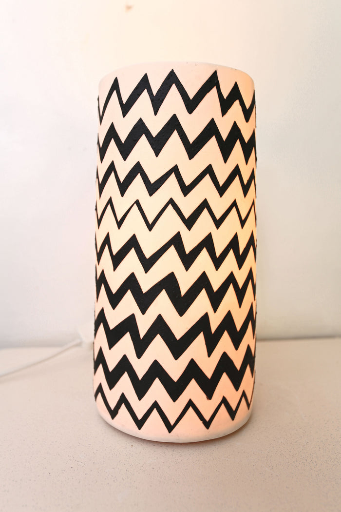 Zig Zag.  Vallerie Table Lamp.