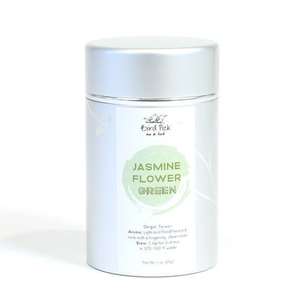 Jasmine Flower Green Silver Tin Collection